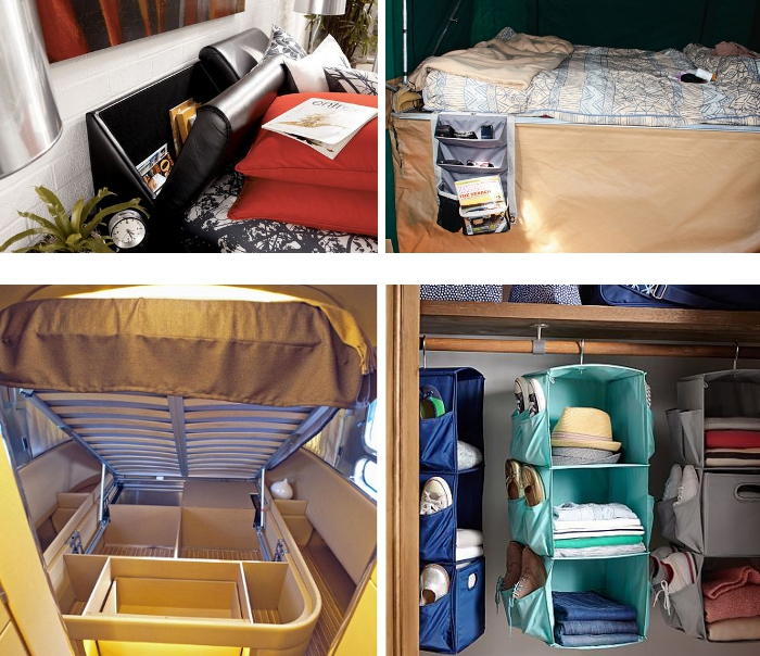 bedroom motorhome storage