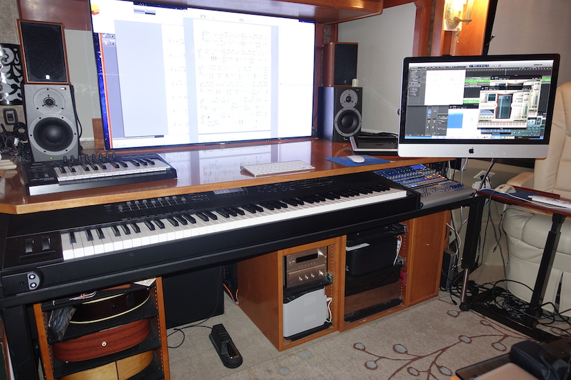 Phil Rorex motorhome music studio