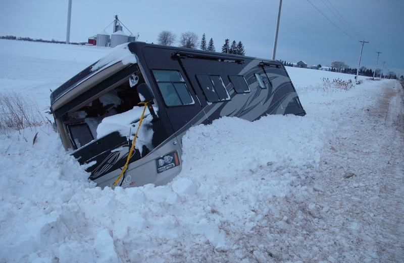 rv stuck in snow