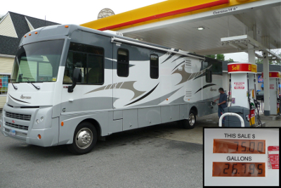 rv at gas station