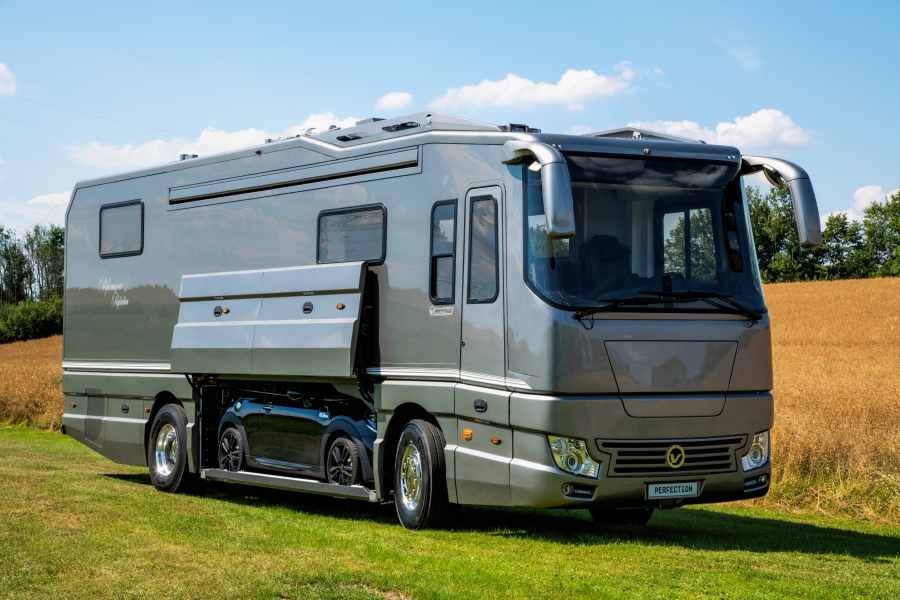 10 coolest car carrying motorhomes. Black Bedroom Furniture Sets. Home Design Ideas