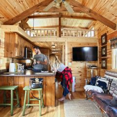 Cabin-KitchenAndLiving